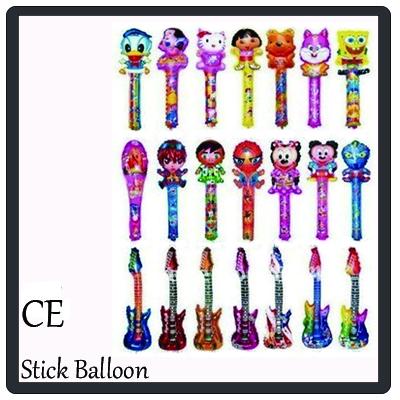 Hot Free Shipping 20pcs/bag 2000pcs/lot mix order Average Size 80x20CM Stick Balloon clapper Balloon(China (Mainland))