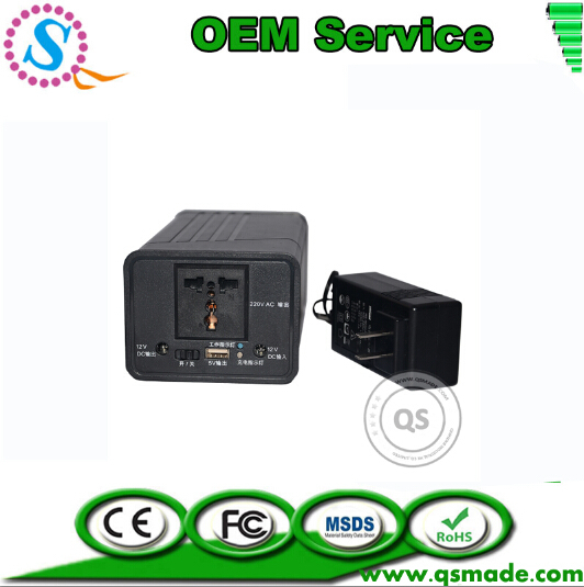 UPS 6000mAh 14V~19V DC Input To DC 5V USB DC 12V AC 220V~240V 70w Max Output Inverter Power Supply Up to 5Hours Working Time(China (Mainland))