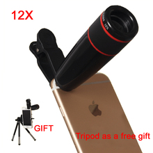 Buy 12X Telephoto Lens Zoom Telescope Mobile Phone Camera Lens Optical lenses Universal Clip iPhone 5s 6s 7 Plus Samsung LG for $11.69 in AliExpress store