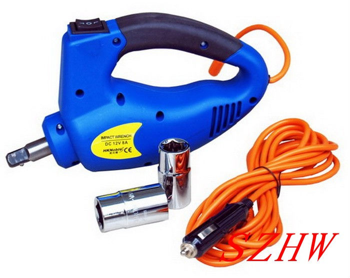 Car Hydraulic Jack With LED Light + Electric Wrench, Max top-heavy 1200KG Min/Max Height:170/410MM, 350N.m Max Torque, Fast Ship