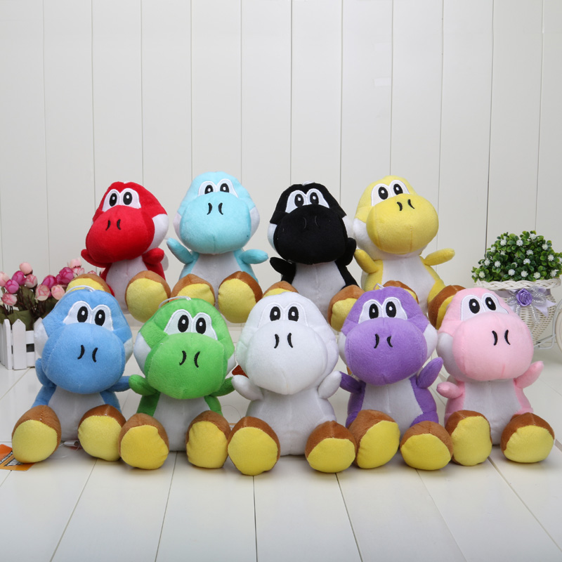 17CM Super Mario Bros Yoshi Plush Stuffed toys Dolls Mario Plush Toys Free shipping(China (Mainland))