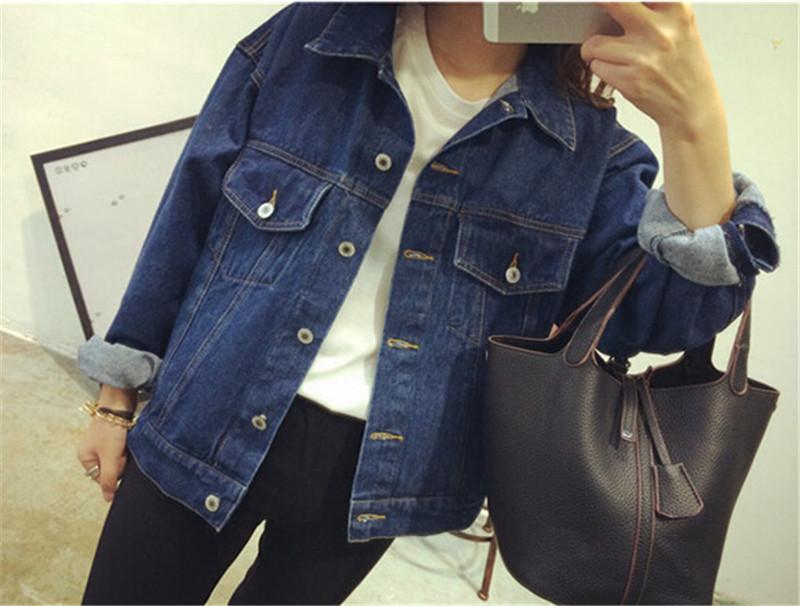 Dark Blue Denim Jacket Womens - Coat Nj