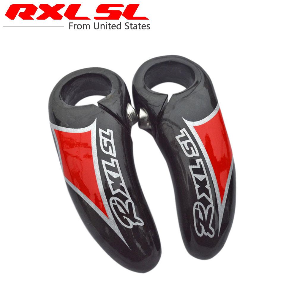 RXL SL Full Carbon Fiber Bicycle Bar Ends Handlebar MTB/Mountain Bike Ergonomic Bar End Red UD Glossy MA34(China (Mainland))