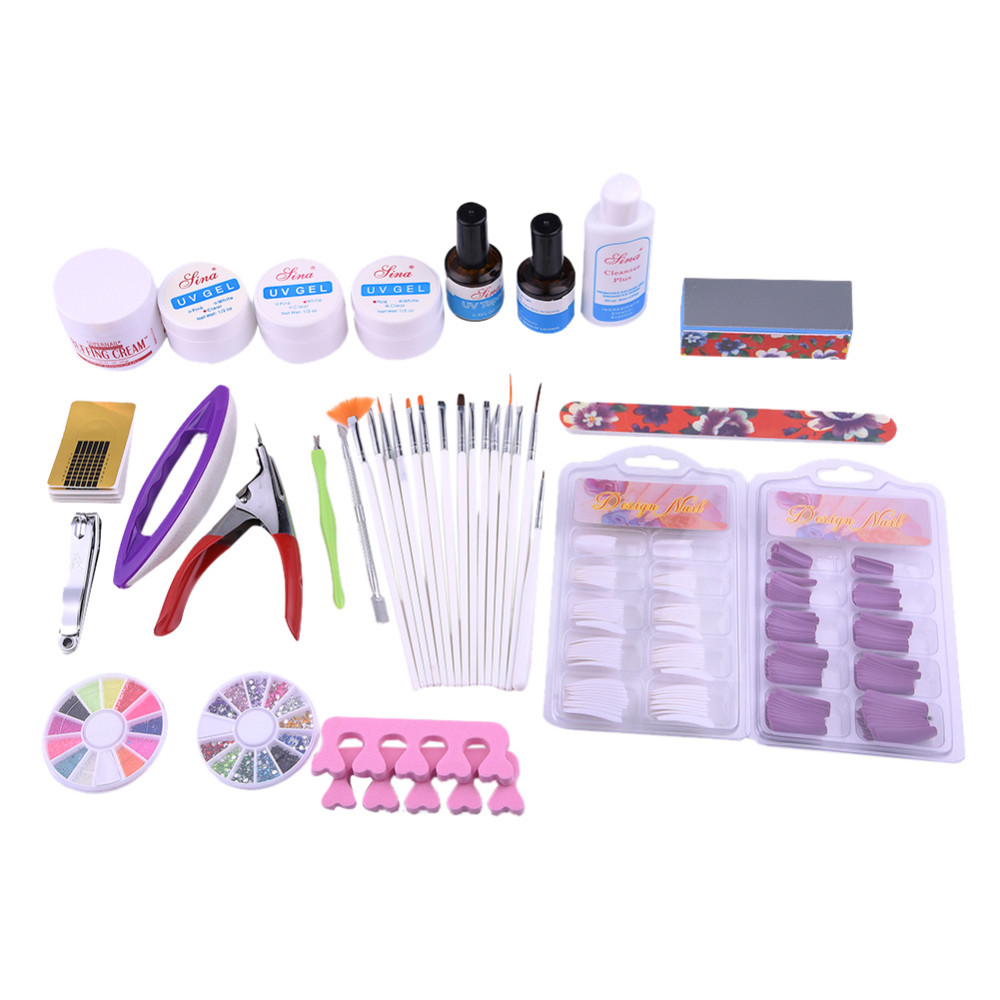 Wholesale Nail Tools Set Kit Combination:Therapy Machine+False Nails ...