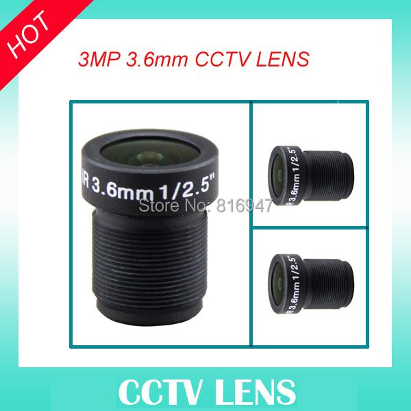"""ricom 3.6mm cctv lens fixed iris 1/2.5"""" F1.6 M12 mount lens, cctv security camera lens, 3 megapixel ricom lens(China (Mainland))"""