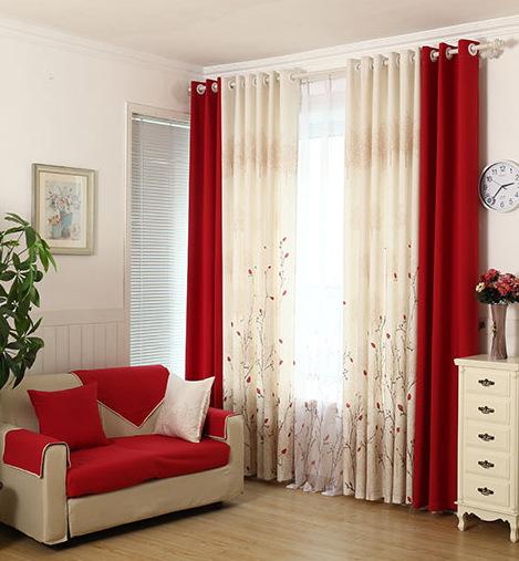 salon de rideau rideau de chambre jardin chaud coton. Black Bedroom Furniture Sets. Home Design Ideas