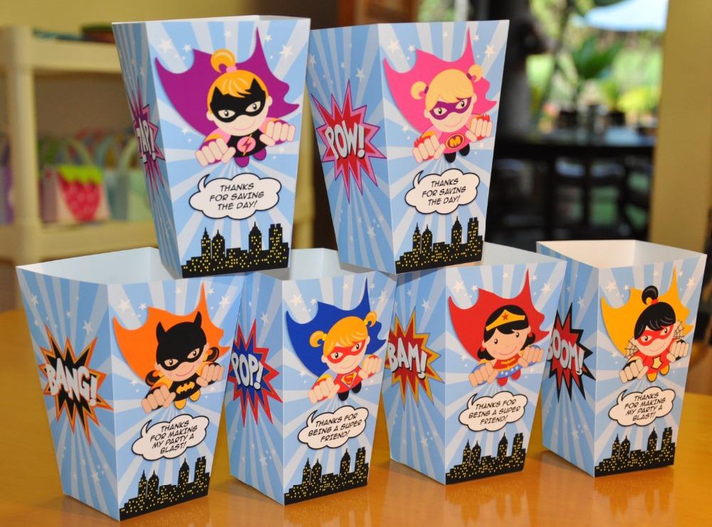 Superhero Avengers Popcorn Boxes Super Hero Birthday Party