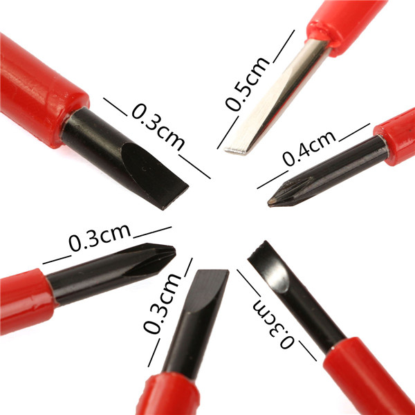 6PCS bag VDE Electricians Screwdriver Set Tool Electrical Fully Insulated High Voltage Multi Screw Head Type