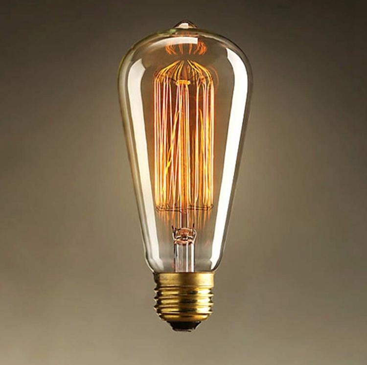 Incandescent Vintage Bulb 40W 220V Retro Edison Art Decoration ST64 Light Bulb E27 Antique lamps Bulbs 4 pcs/Lot Wholesale Price(China (Mainland))