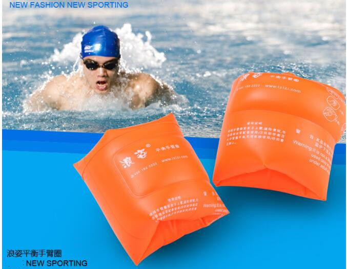 2016 New Protable Inflatable Armbands double indenpendent airbag Floats Swimming Rings Arm Bands Safety Swim Water Rings(China (Mainland))