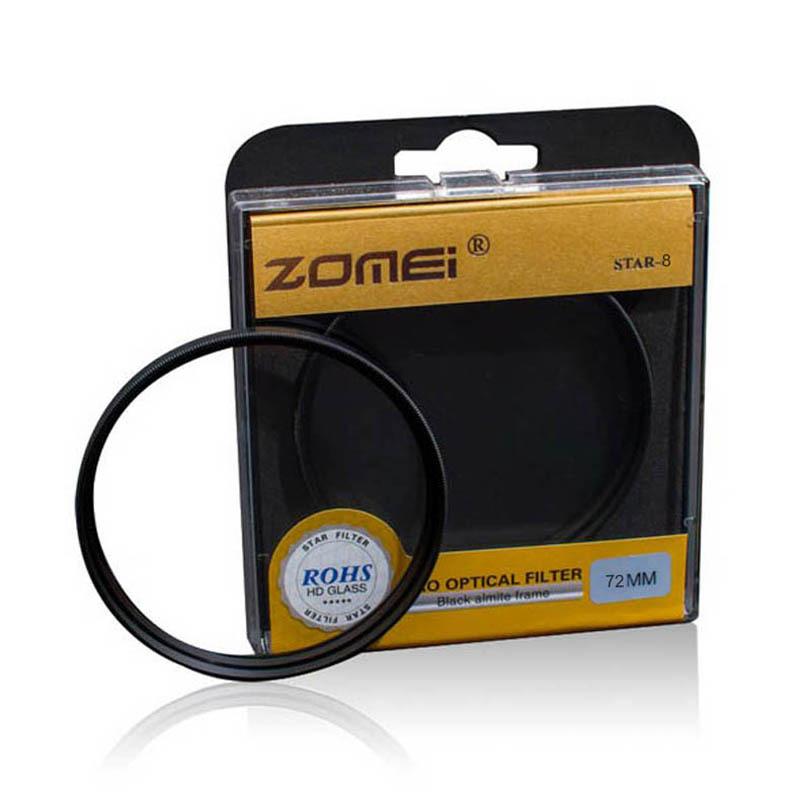 Premium Original Zomei 72mm Professional Star Filter 8 Line Piont 8PT for Canon Eos Nikon Sony Pentax Olympus DSLR Camera Lens(China (Mainland))