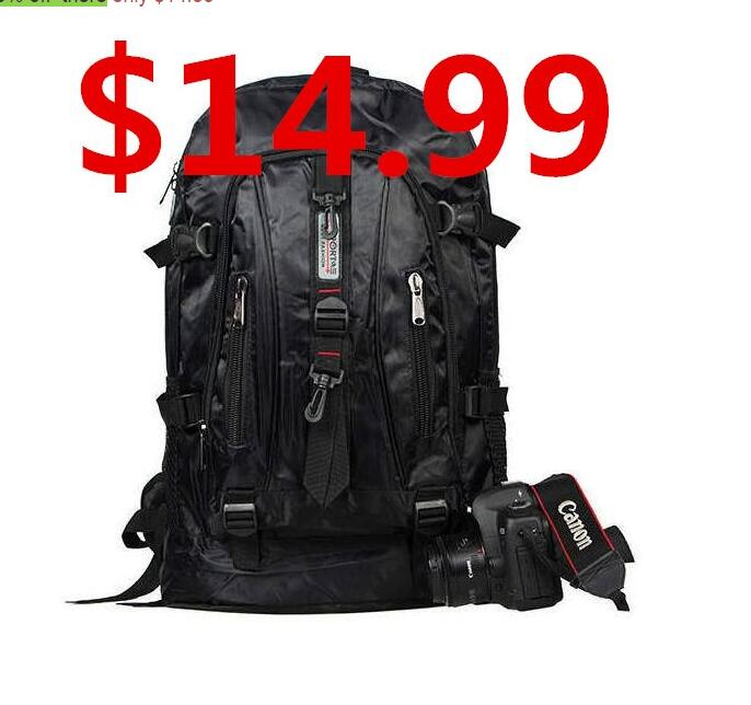 $14.99 Best Selling unisex backpacks 2015 backpacks women's traveling daily backpack Military Tactical Backpack(China (Mainland))