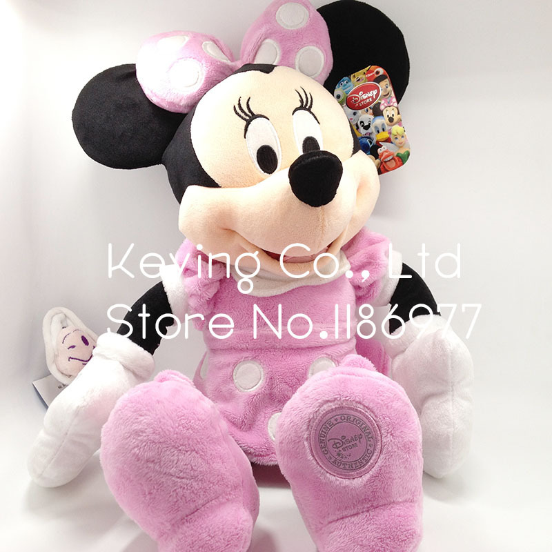 45cm Original Big Pink Minnie Mouse Stuffed Animals Plush Toy Doll Gift for Baby Girl Birthday Gift(China (Mainland))