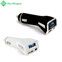 Free shipping Xianke M81 Car MP3 Player Hands Free FM Transmitter AUX Port Cigarette Lighter USB Auto Charger 5V 2.1A