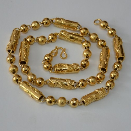 Male necklace gold necklace vacuum 24k(China (Mainland))