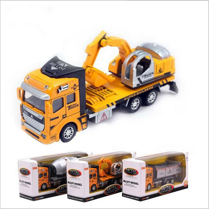 Liga de brinquedo de plástico brinquedo caminhões e reboques modelo