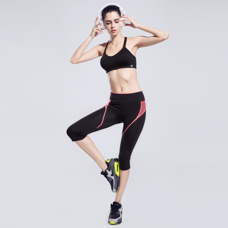New 2016 Elastic Fitness Leggings Women Sport Pants Running Training Gym Super Stretch Ladies Fashion Active Trousers Y80(China (Mainland))
