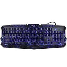 Russo Versione Rosso/Viola/Blu Retroilluminazione LED Pro Gaming Keyboard USB Cablato M200 Powered Pieno N-Key per LOL Periferiche Per Computer(China (Mainland))