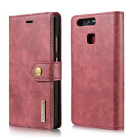 Huawei P9 Capa Genuine Leather Wallet Cover For Huawei P9 Celular DG.MING 2 In 1 Magnetic Flip Case 3 Card Bag Shell Phone Cases