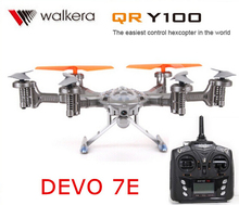 Walkera QR Y100 with DEVO 7E transmitter 6-Axis FPV Hexacopter Drone with Camera IOS/Android System phone Control quadcopter
