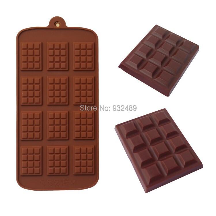 best hot sales food grade silicone chocolate bar mold mould maker tools supplies recipes catalogue China(China (Mainland))