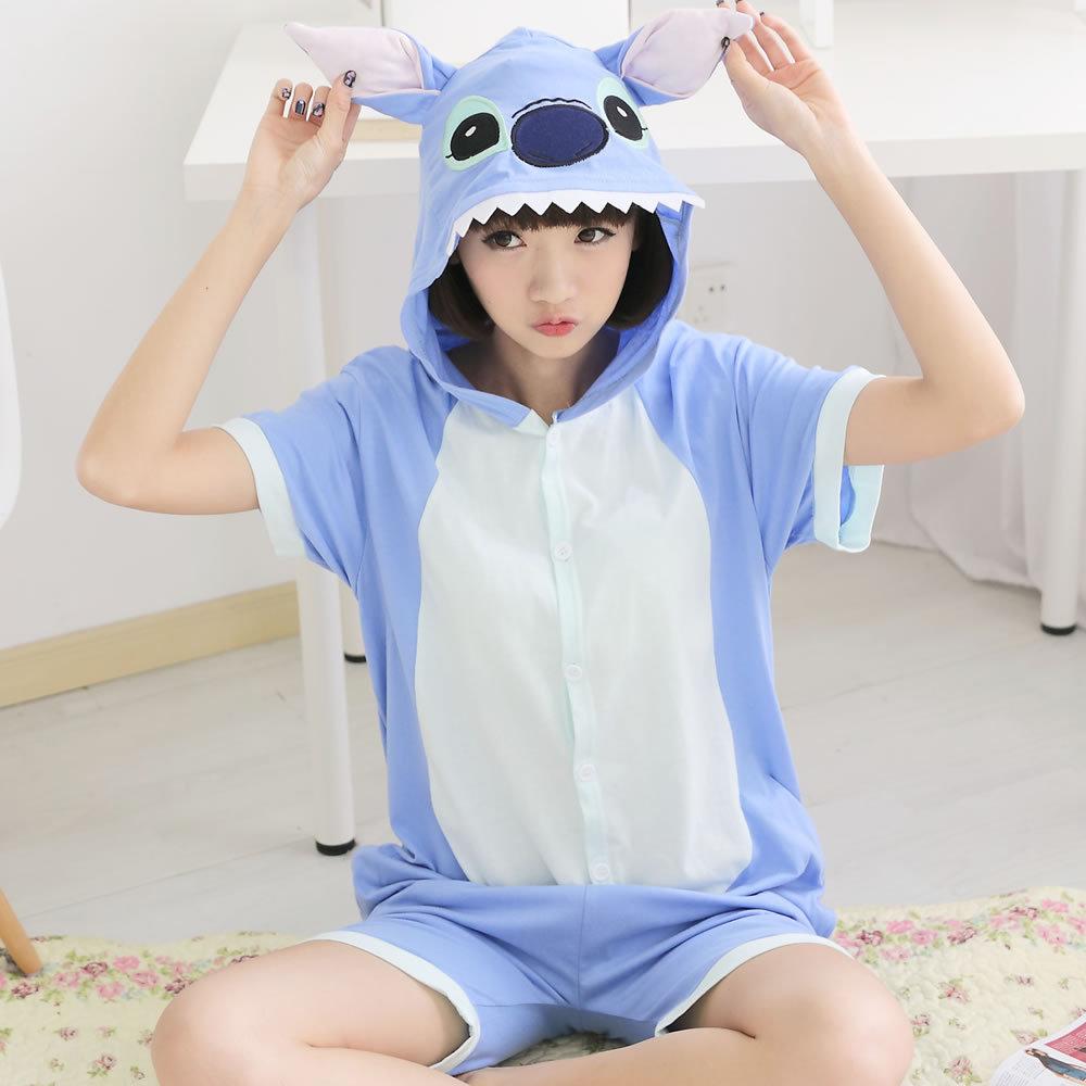 Kid Summer Cotton Boy Girl Pajamas Cosplay Animal Cartoon Pyjamas Men Women Sleepwear For Family Matching outfit pijama feminino(China (Mainland))