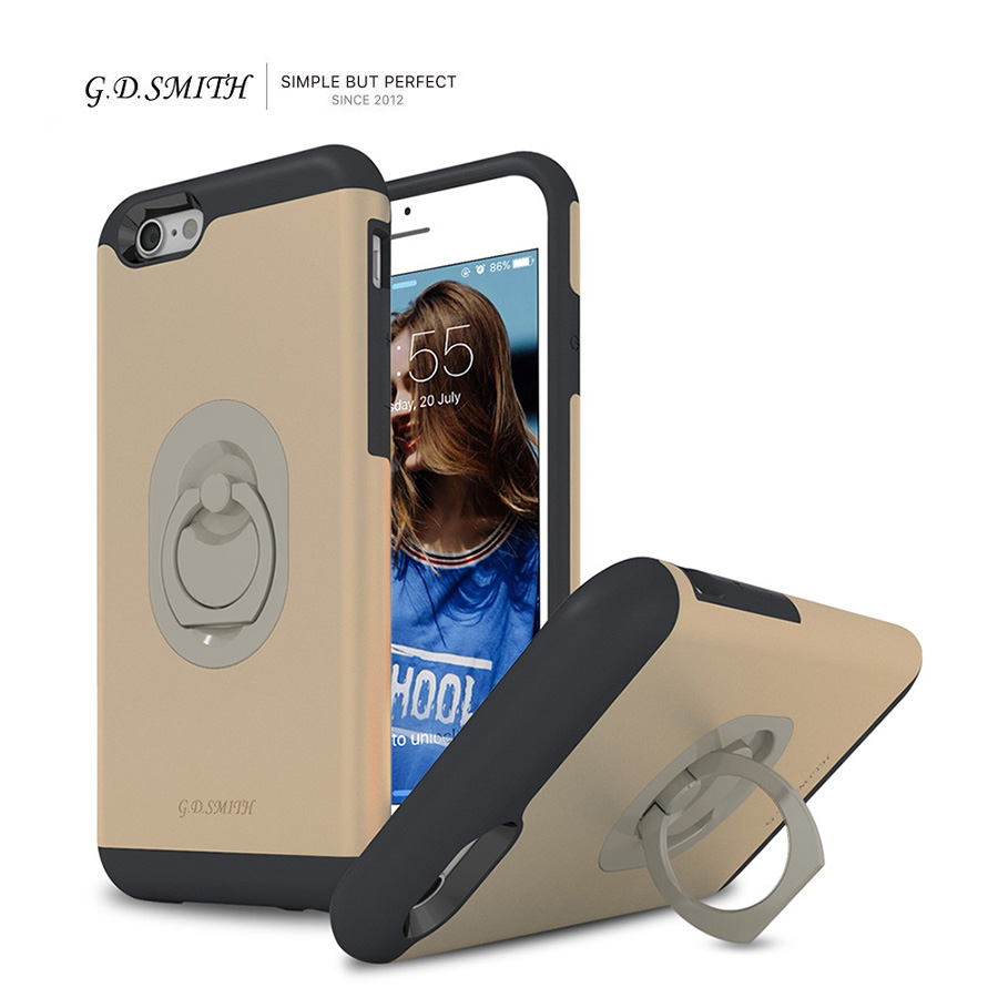 """G.D.SMITH Ring Case Cover for iPhone 6 6s Luxury Cell Phone Coque For Apple iPhone6 6 s 4.7"""" Retail and Wholesale 2016 New(China (Mainland))"""
