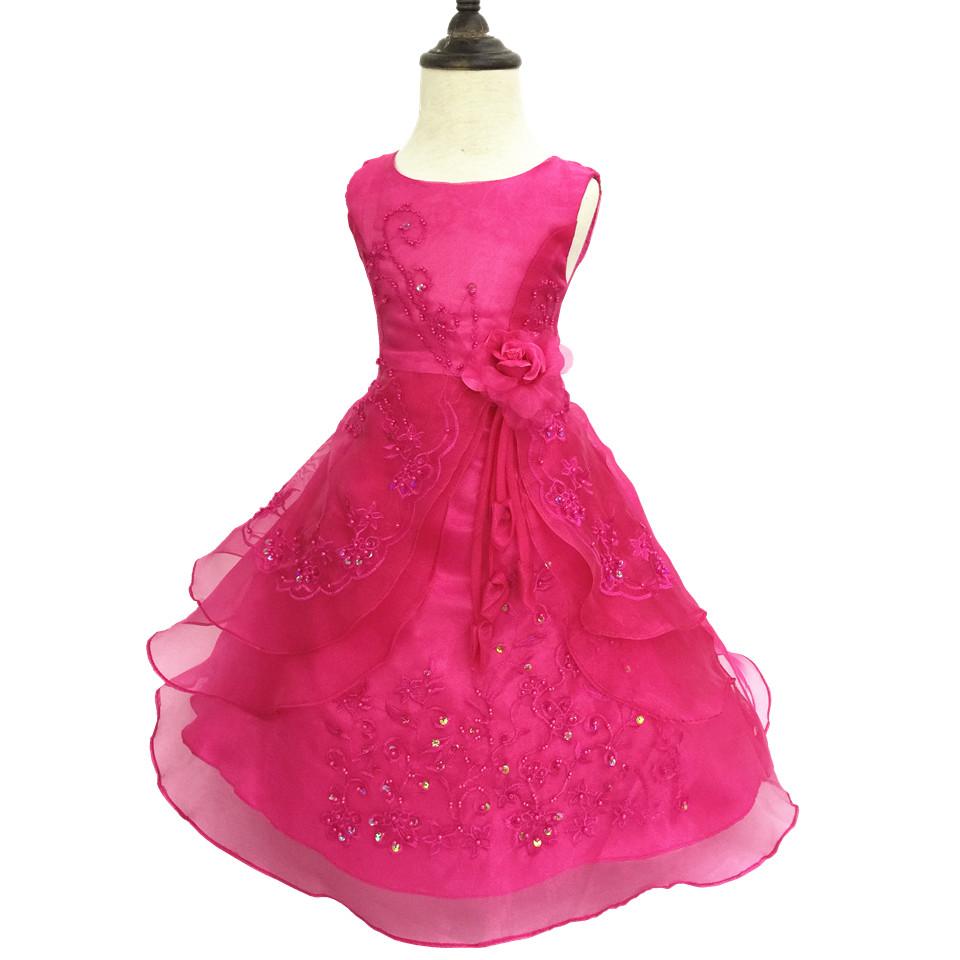Kids dresses for girls 2 14 years 2016 new flower girl for Dresses for girls for wedding