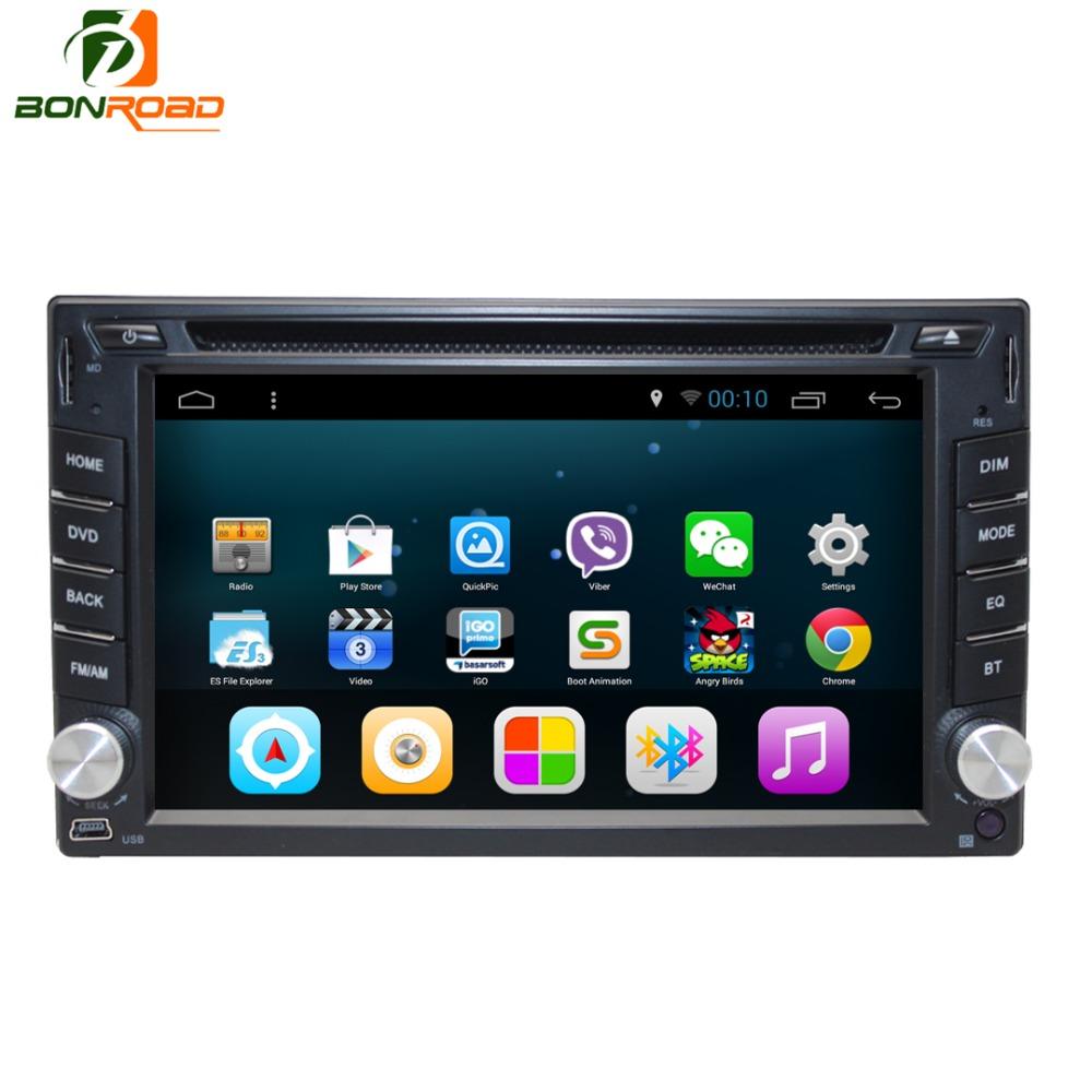 Bonroad 2 Din Universal Car Stereos USB SD Para Wifi Audio Radio BT Video Multimedia Player Android 4.4 Quad Core 1GB USB(China (Mainland))