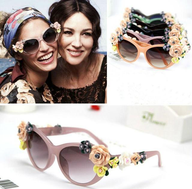 trendy eyeglasses ysgm  flowers lady vintage brand retro sunglasses Glasses Eyeglasses designer  Stylish Trendy Popular CN post