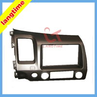 Car refitting dvd frame CD panel audio fascia for 07-2011 Honda Civic, 2DIN ( left hand ,with SRS hole )