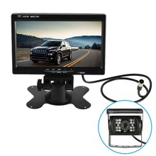 7'' Large TFT Car LCD Monitor Wireless Video Transmit Car Rear View Backup Reverse System for + LED Night Vision Camera(China (Mainland))