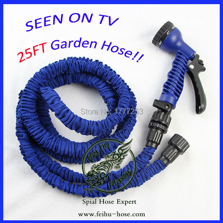 [CE Certificate] New Arrival!!! Heavy Duty Lightweight 3 Times Expanding Garden Hose 25FT Hot Water Flexible Hose To Watering(China (Mainland))