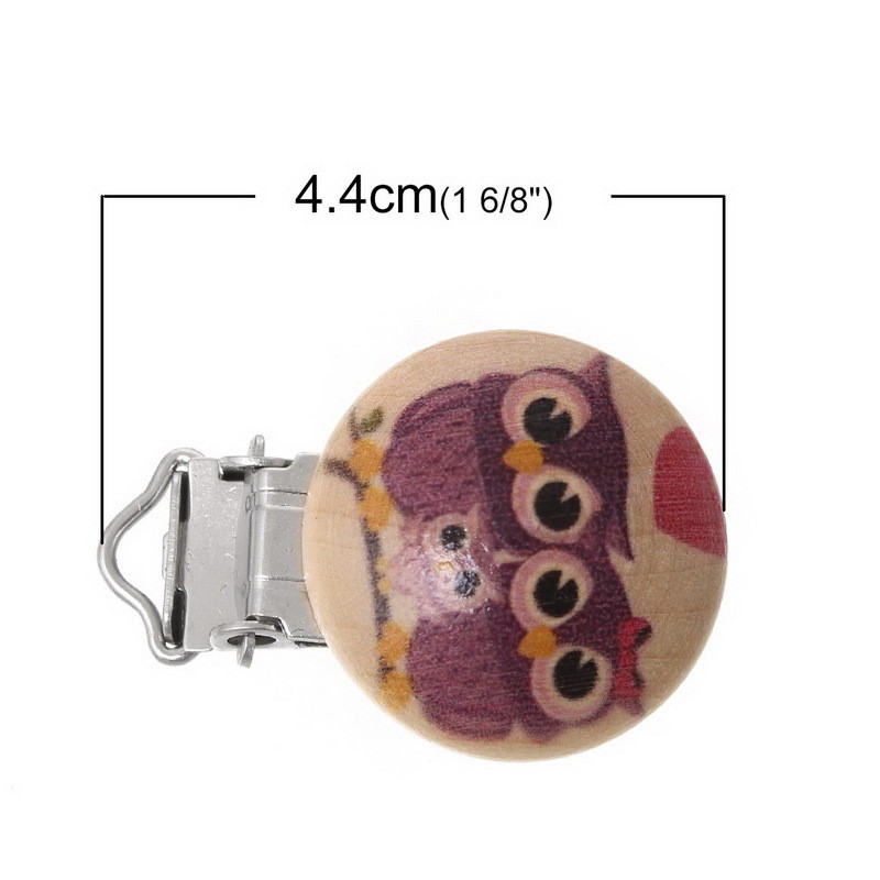 Mix Color Baby Pacifier Clips Holder Soother Wood Clasps Cartoon Owl Baby Funny Pacifier Sucette/Fopspeen Clip VCM02 P18 0.5(China (Mainland))