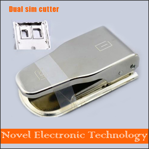 2 In 1 Micro Dual Nano SIM Card Cutter Cortador Chip Puncher Universal with 2 Cutting Edge for iPhone 4/4S/5 + Sim Adapters