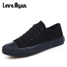 ใหม่มาถึงฤดูร้อนแฟชั่นผู้ชายรองเท้าสีดำสีขาวสีแดงรองเท้าบุรุษผ้าใบรองเท้า Lace - Up รองเท้า NN-14(China)