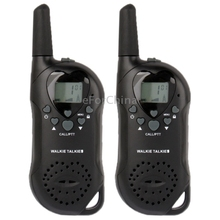400-470MHz T-6 1.0 inch LCD 5KM Walkie Talkie, ( Black) (The price is for 2 pcs)