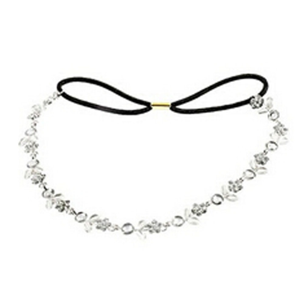 New Fashion Sweet Style Flowers Crystal Rhinestones Inlaid Leaf Hairband Hair Rope Hair Accessories Drop Shipping(China (Mainland))