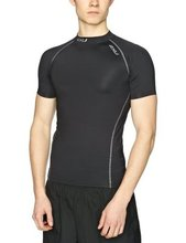 Australia 2XU men's athletic Compression Tights fitness in short sleeved shirts T-shirts outdoors fast drying