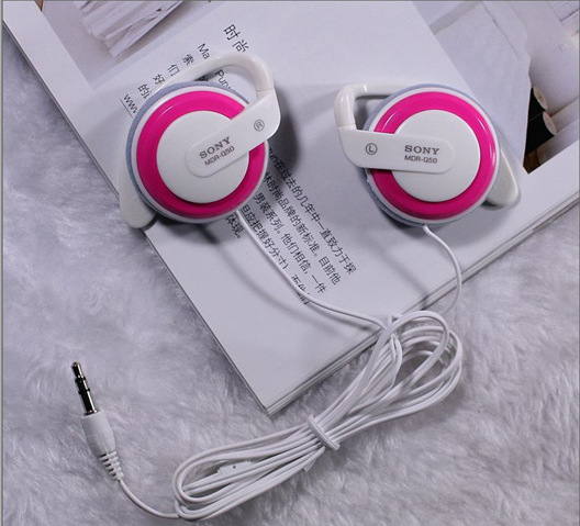 Free Shipping Headphones 3.5mm Headset EarHook Earphone For Mp3 Player Computer Mobile Telephone Earphone Wholesale(China (Mainland))