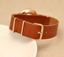 2015 new Style Geneva slim belt watch simple scale men watches