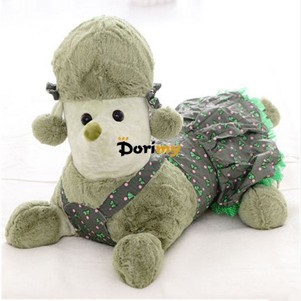 Dorimytrader 2015 New 1 pc 35'' 90cm Lovely Stuffed Giant Plush Animal Poodle Toy, 5 Colors Available, Free Shipping DY60086(China (Mainland))