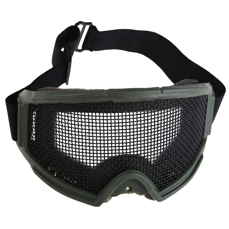 Safety Goggle Cool Airsoft Eyes Protection Metal Mesh Pinhole Glasses Goggle Outdoor Sports Skiing Hunting Eyes Glasses BHU2(China (Mainland))