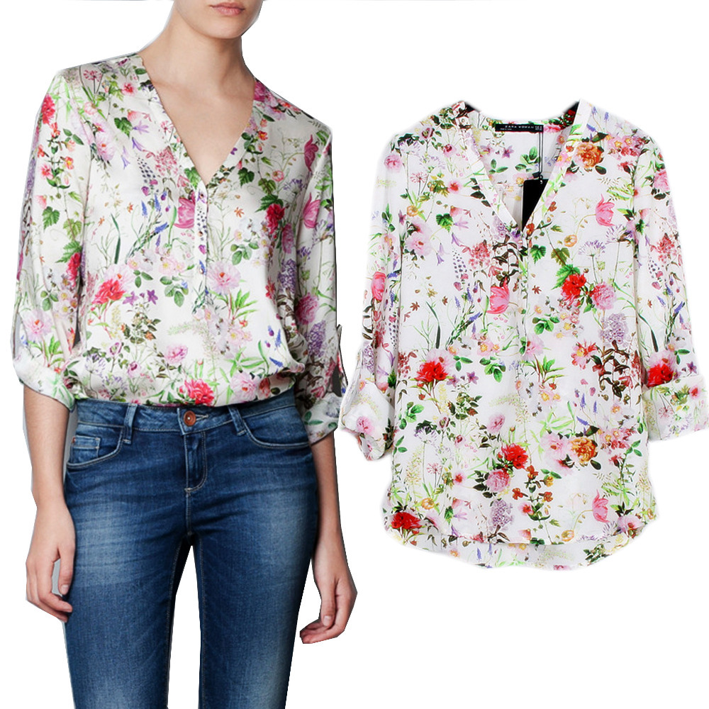 Ladies Floral Shirts