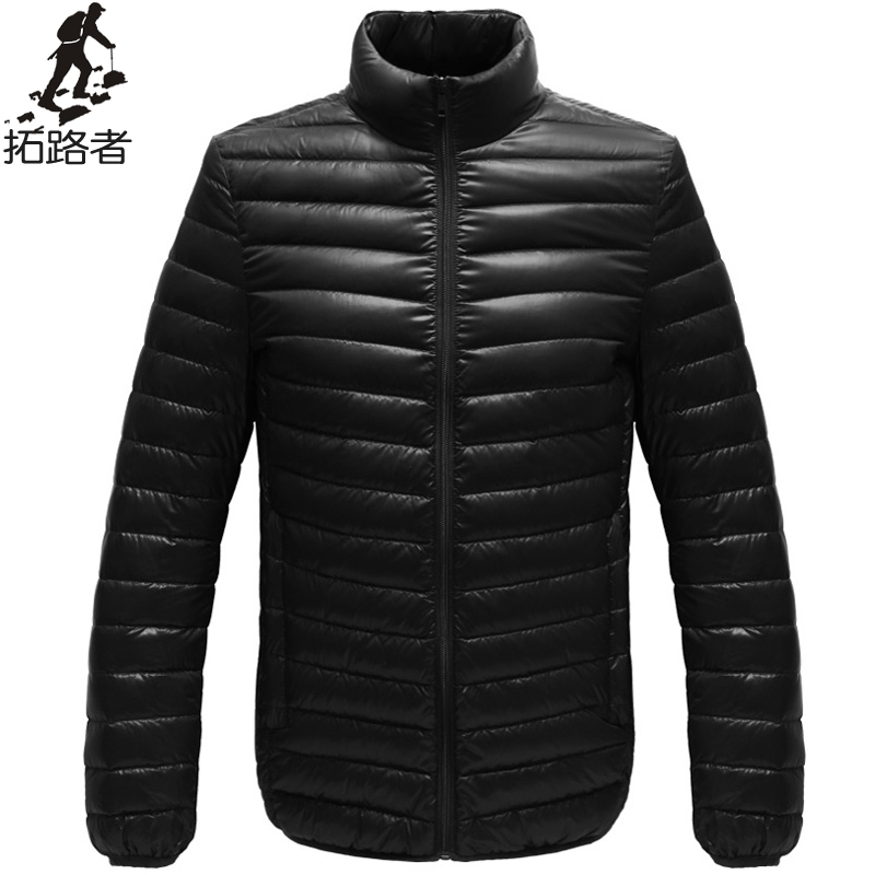 Free shipping ! new fashion 2015 winter mens down jacket solid thin breathable mens coat casual warm jacket white duck down men(China (Mainland))