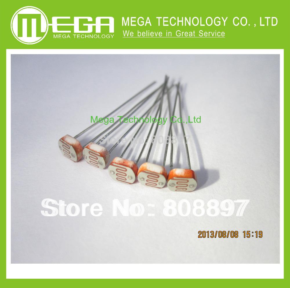 Free Shipping 20pcs Photo Light Sensitive Resistor Photoresistor Optoresistor 5mm GL5528(China (Mainland))