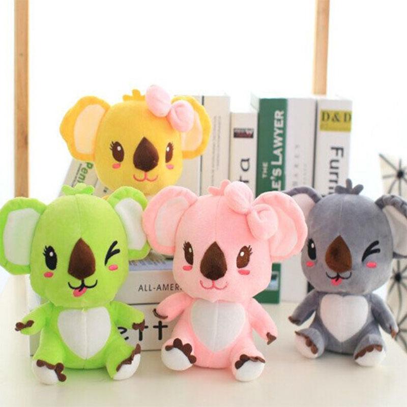Hot Sale Cartoon Candy Koala Plush Toy Koala Bear Plush Doll Bear Color Plush Doll Sucker Pendant Children Birthday Gift(China (Mainland))