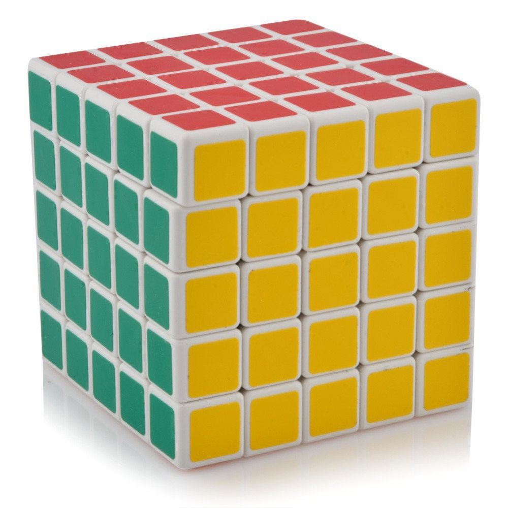 2016 NEW High Quality ShengShou 5 Layers Ultra-smooth Professional Speed Puzzle Cube Magic Cube Learning Toys White Edge Hot -50(China (Mainland))