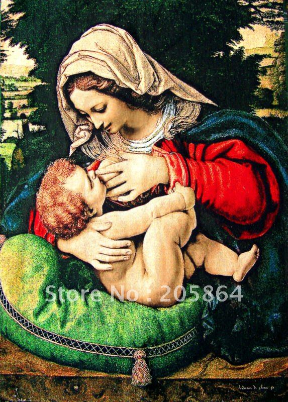 Free shipping gobelin tapestries,popular Virgin Mary,Mother of God,decoration picture,wall hanging art picture(China (Mainland))