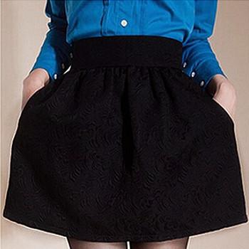 Новый 2015 женщин бальное платье юбка черный пуховкой юбка высокой талией короткая ...